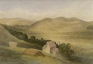 Wesleyan Mission Station in 1858 by John Kinder (1819-1903)