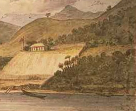 Base of McDonnell, Horeke, Hokianga Harbour