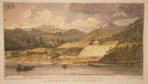 Drawing by Augustus Earle's: water colour of Horeke 1828