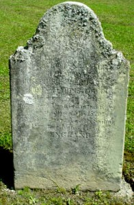 This is the headstone that has a legible date. It is the earliest date recorded