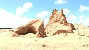 Many sculptures show an incredible shape and one expects Laurence of Arabia just riding over the hills
