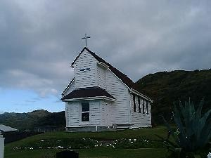 The Church in Mitimiti Courtesy of Stuart Park (NZ Historic Places Trust)