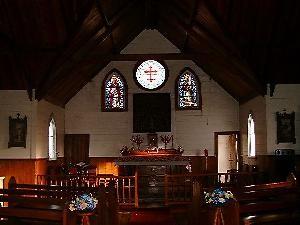 Panguru Church interior Photo courtesy of Stuart Park, NZ Historic Places Trust