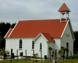 Everything is made in Kauri timber. The church looks modest, but it is beautiful craftsmanship.