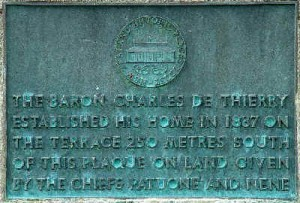 Historic site plaque by SH1 in Waihou Valley near to Horeke turnoff